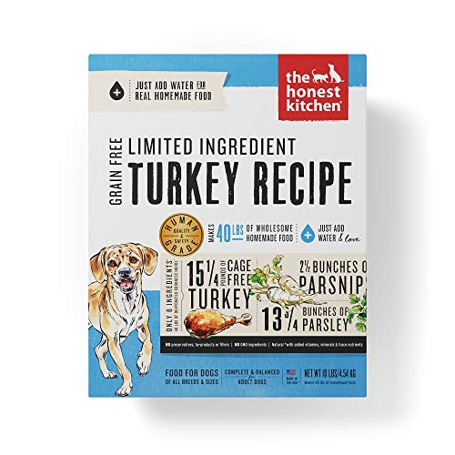 Honest Kitchen Limited Ingredient Turkey Dog Food Recipe  10 lb box - Marvel (Best Dehydrated Dog Food)