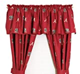 Cheap College Covers Alabama Printed Curtain Valance