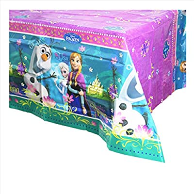 """1 pack princess Themed Birthday Party Decorations – Disposable princess Plastic Tablecloth   71.25 x51.96 """", Disposable Table Cover princess Party Supplies for Kids: Kitchen & Dining"""