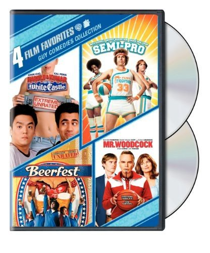 4 Film Favorites: Guy Comedies (Beerfest, Harold & Kumar Go to White Castle, Mr. Woodcock, Semi-Pro) by Warner Manufacturing