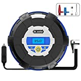 [Tire Inflator Compressor Pump] Dr.meter 12V 150PSI Auto Digital Tire Inflator with Digital Gauge, 3 High-air Flow Nozzles & Adaptors for Cars, Bicycles, Basketballs and Other Inflatables,CZK-3610