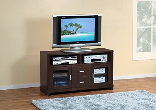 Smart home 13594 Entertainment Console TV Stand Unit 47 Red Cocoa Espresso