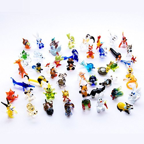 - Handblown Glass Animal Miniature Figurines Job lot of 50 Art Decoration by ART GLASS