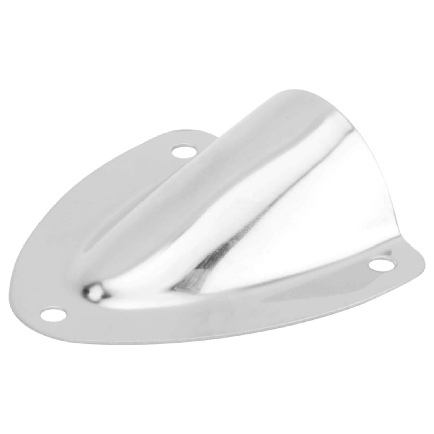 DasMarine 10 PCS Stainless Steel Cable Cover,Boat Transducer Wiring Cover,Clamshell Vent Wire Cover Clam Shell Vent