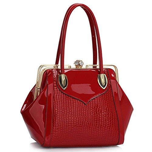 TrendStar - Bolso al hombro para mujer M B - Red