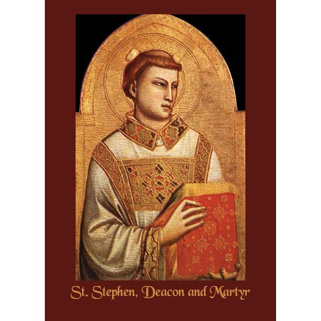 - St. Stephen, Deacon and Martyr, Greeting Card