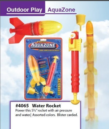 Toysmith AQUA LAUNCH Water Powered SPACE ROCKET kids TOY ...