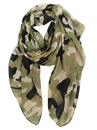 GERINLY Scarves - Lightweight Travel Scarf Camouflage Print Shawl Wrap (Womens Camouflage)