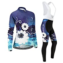 Cycling jersey Set, Maillot de Cyclisme Women Femme Long sleeve Manches Longues(S~5XL,option:bib Cuissard,3D pad Coussin) N252