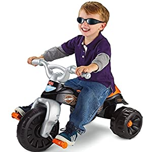 Fisher Price Harley Davidson Motorcycles Tough Trike Children's Tricycle Wide, Stable Wheel Base Easy grip Handlebars Big Foot Pedals