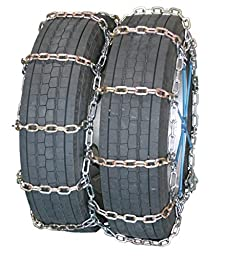 Quality Chain Road Blazer Square Alloy Non-Cam 7mm Link Tire Chains (Dual/Triple) (4128RHD)