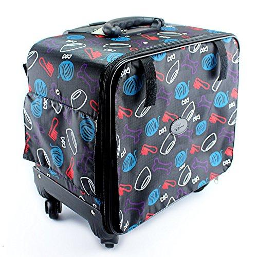 NAUY- Haustier-Trolley-Kasten-Hund aus der Trolley-Tasche Hund und Katze aus Reise-Koffer-Hund Rucksack-Katzen-Paket-Haustier-Sätze
