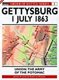 img - for Gettysburg July 1 1863: Union: The Army of the Potomac (Order of Battle) book / textbook / text book