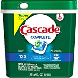 Cascade Complete ActionPacs Fresh Scent Dishwasher Detergent, 78 count (Pack of 4)