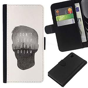 Stuss Case / Funda Carcasa PU de Cuero - Cita mensaje profundo del cartel - Sony Xperia Z1 L39