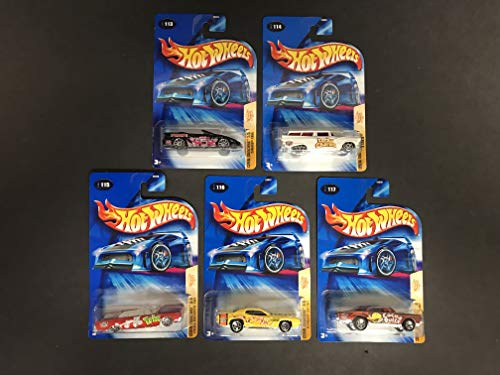 2004 Hot Wheels Cereal Crunchers Series (Complete Set of 5) Camaro GTO GTX Lincoln Trix Cheerios Cocoa Puffs Lucky Charms Frankin Beery