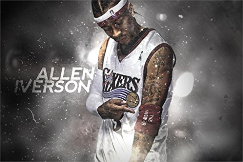 Allen Iverson Vs kobe art cloth Basketball poster print for Room Decoration