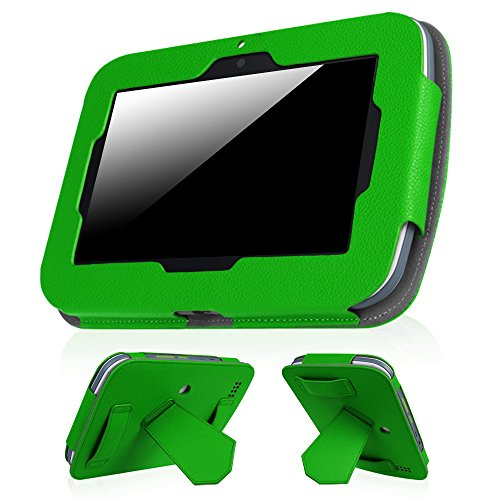 Fintie Leapfrog Epic Case - Premium PU Leather Standing Carrying Cover with Car Headrest Mount Holder Function for Leapfrog Epic/Leapfrog Epic Academy Edition 7 Android-Based Kids Tablet, Green