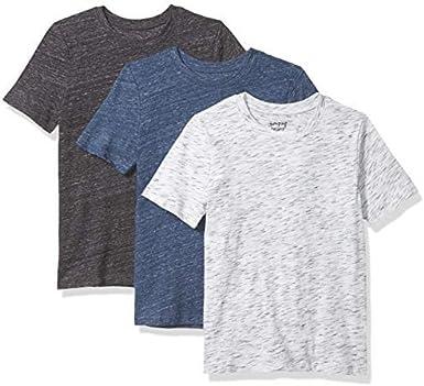 Jumping Beans - Juego de 3 Camisetas con Textura, Color Blanco, Azul Marino, Camiseta Negra