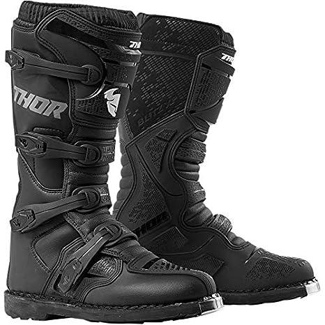 83f214a2f Thor Flash XP Botas de Enduro Motocross MX Negro 2019  Amazon.es  Coche y  moto