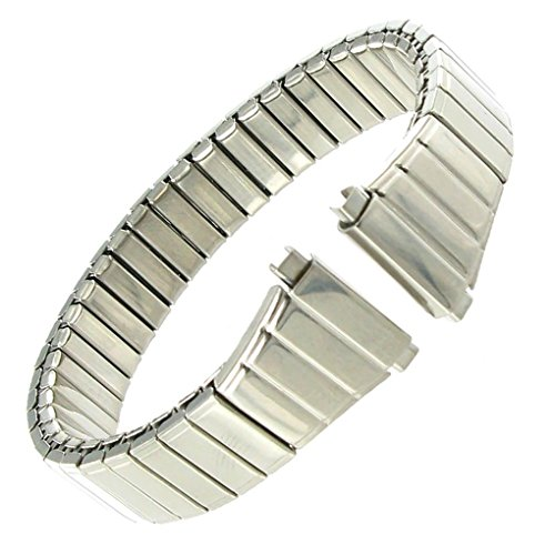 Speidel Ladies 11mm to 14mm Tapered Twist-O-Flex Silver Tone Stainless Steel Watch Band 1731