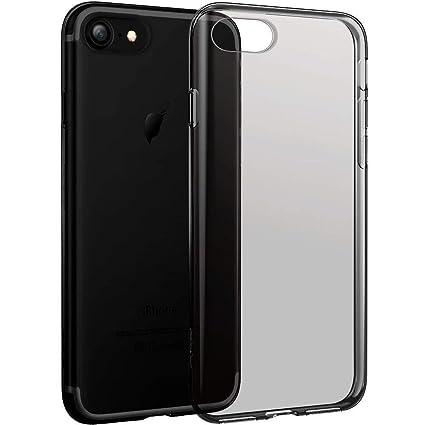 quality design dc15a e5556 Egotude Soft Silicone Transparent Back Cover Cases for Apple iPhone 7 &  iPhone 8 (Transparent Black)