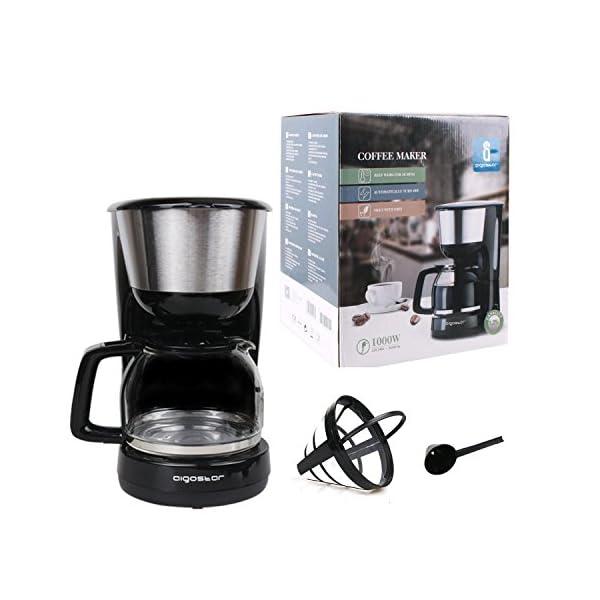 Aigostar Chocolate 30HIK - Macchina per caffe' 10 Tazze, Macchina Caffè Americano 1000 Watts, Caffettiera, Firltro… 6