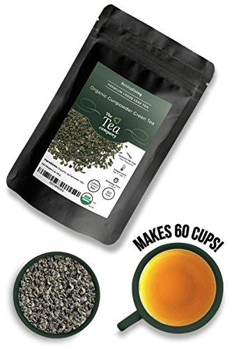 Organic Gunpowder Green Tea Loose Leaf by The Tea Company 4oz