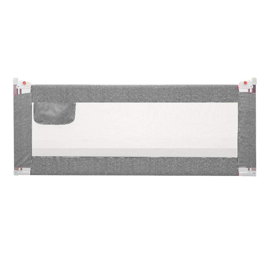 HUO ベッドフェンス 幼児のためのベッドのガードレールを上下に持ち上げること容易に組み立てること容易な子供のためのベッドの柵 (Color : Gray, Size : 200cm) 200cm Gray B07SVG7PRB