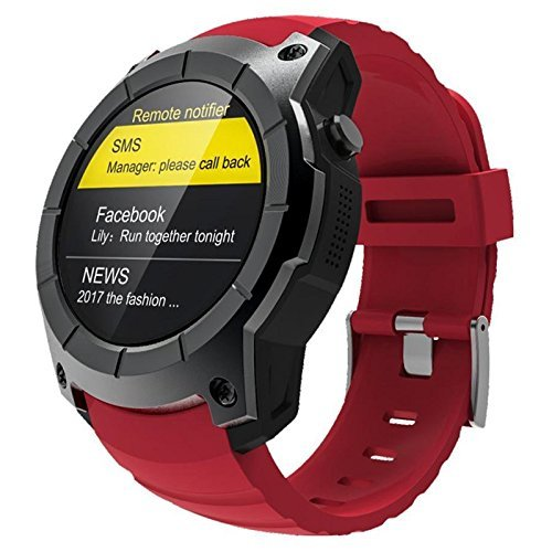 BOND Bluetooth S958 GPS Multi-function Sport Watch MTK2503 Heart Rate Monitor Fitness Tracker Smart Watch Support Sim Card (RED)