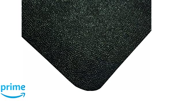 for Dry Areas Black Wearwell Natural Rubber 447 UltraSoft WeldSafe Anti-Fatigue Beveled Mat 3 Width x 75 Length x 7//8 Thickness