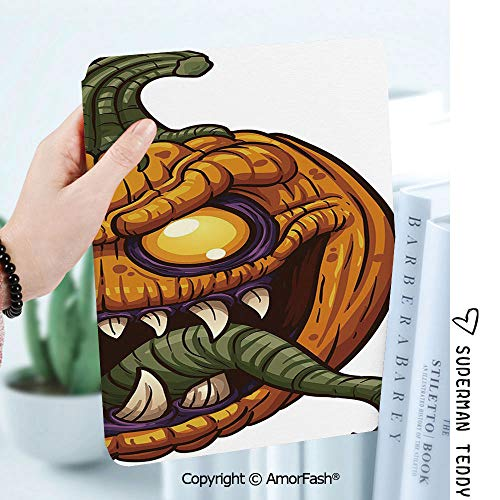 Case for Samsung Galaxy Tab A 8.0 2017 Model T380/T385, Light Weight Shock,Halloween Scary Pumpkin Monster Evil Character with Fangs Aggressive Cartoon]()