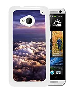 Unique Designed Cover Case For HTC ONE M7 With Cloud Flare Ky Ew Nature Wallpaper (2) Phone Case