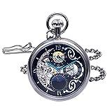 Regent Hills Brass Case Mechanical Open Face Pocket Watch with Hand Winding 9441CP-RVBK