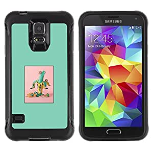 WAWU Rugged Armor Slim Protection Case Cover Shell -- abstract banana green fruit minimalist -- Samsung Galaxy S5 SM-G900