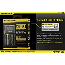 100% Original with validation code Nitecore D2 universal smart charger with LCD display