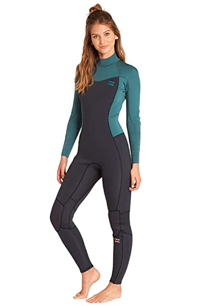 Lightweight Easy Stretch Thermal Lining BILLABONG Womens Furnace Synergy 5//4MM Winter Hooded Chest Zip Wetsuit Sugar Pine