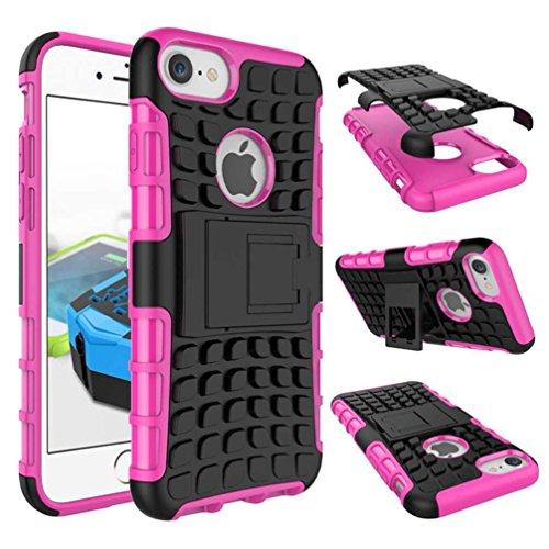 """4.7"""" iPhone 7 Coque, AOFad Case Protection des lourds Béquille Soft Feel rose Plastique Vidéo Frais Accessoires Série Pour Femme Homme L247"""