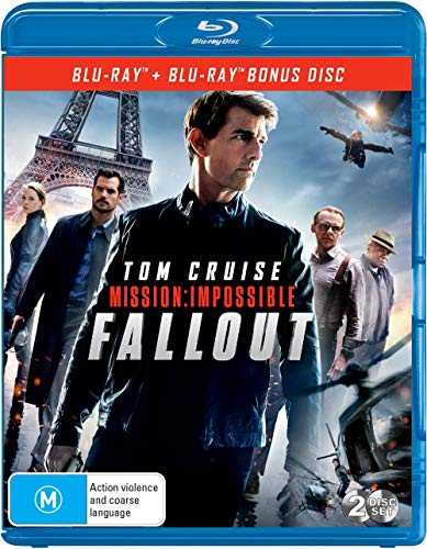 Mission Impossible Fallout | Bonus Disc | Tom Cruise | NON-USA Format | Region B Import - Australia