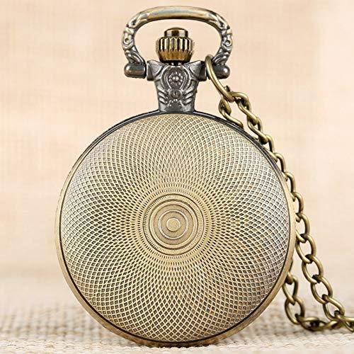 Amazon.com: CHITOP - Reloj de bolsillo de cuarzo con ...