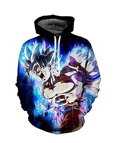 Female Goku Costume (Dragon Ball 3D Print Men Hoodie Anime Goku Costume Jacket Unisex Coat Sportswear Hooded Sweatshirts Coats Pocket #H05 (S = US)