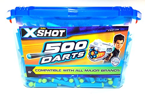 X-Shot 500 Foam Darts Refill Pack by ZURU, Compatible with Nerf and All Major Brands - Brands Eyewear All