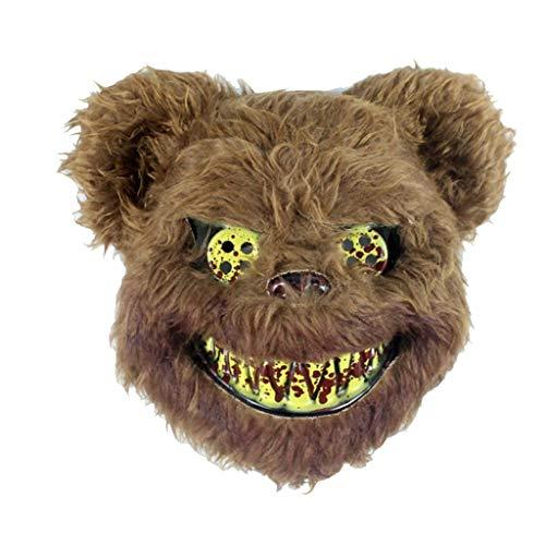 Man Wearing Bear Costumes - Jeash Scary Animal Latex Mask Halloween