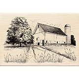 Inkadinkado Wood Stamp, Old Barn