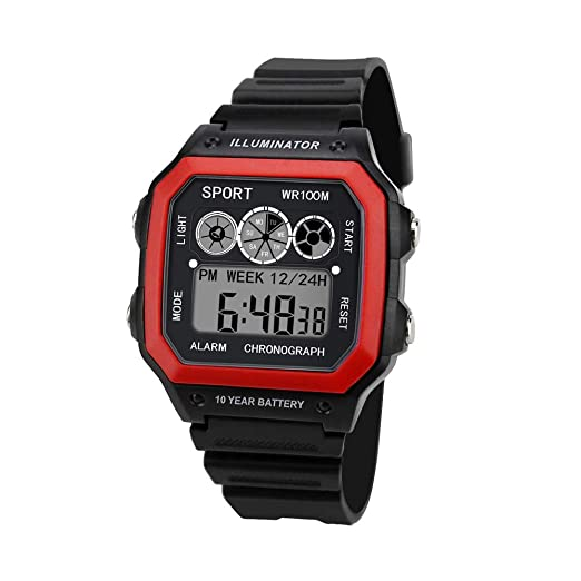 Amazon.com: Teen Boys Cool Sport LED Watches, Iuhan Luxury Men Analog Digital Military Army Sport LED Waterproof Wrist Watch (Black): Cell Phones & ...