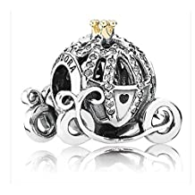 DISNEY Exclusive Cinderella Pumpkin Coach PANDORA Charm 14K Gold~Authentic~NEW in box