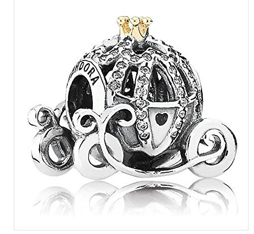 Exclusive Cinderella Pumpkin PANDORA Gold Authentic NEW product image