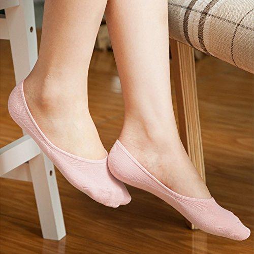 ac0e9b0d418 3 Paires de Chaussettes Basses Invisibles en Coton pour Femmes Filles  SWEETBB Mini Socquettes Courtes pour Été (Beige