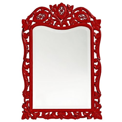 Howard Elliott 4085R St. Agustine Mirror, Red (With Red Frame Mirror)