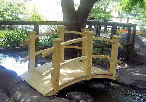 5' Colonial Cedar Wood Bridge, 28''W x 60''L by Master Garden Products